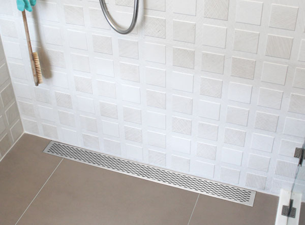 Linear Drain Used In Bathroom
