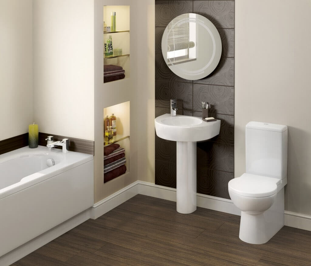 Small Bathroom With Built In Storage