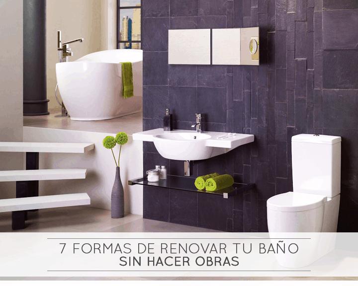 7 Formas de renovar tu baño sin hacer obras