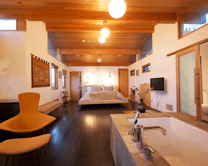 Ideas para diseñar un baño abierto al dormitorio