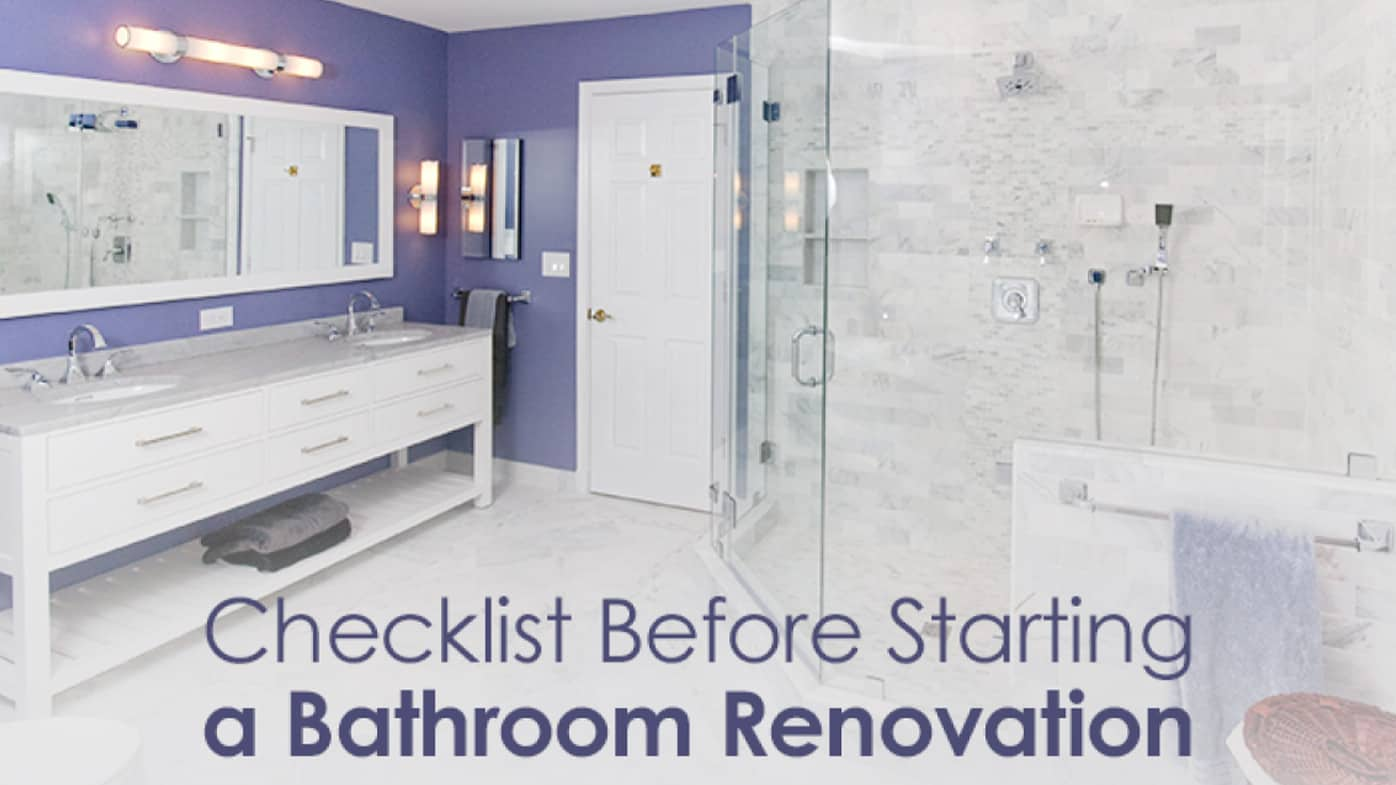 Checklist Before Starting a Bathroom Renovation