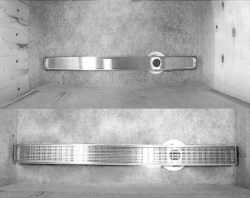 Which linear drain solve the issue of having an off-center  drain pipe