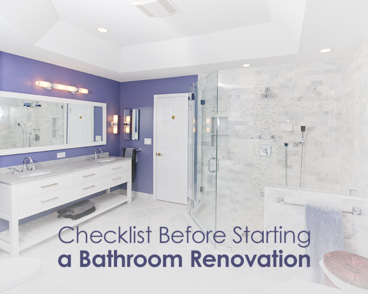 Checklist Before Starting A Bathroom Renovation - Bathroom renovation checklist